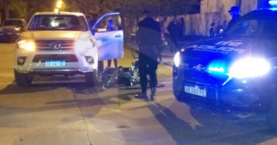 Motociclista lesionada en accidente en el norte